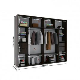 Трехдверный шкаф купе Альфа 290х60х240