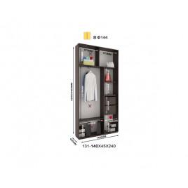 Двухдверный шкаф купе Альфа 140х45х240