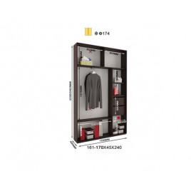 Двухдверный шкаф купе Альфа 170х45х240