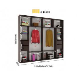 Трехдверный шкаф купе Альфа 290х45х240
