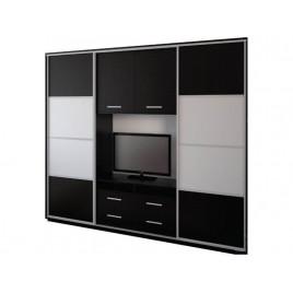 Шкаф купе под телевизор К24 мат 240х55х220