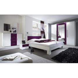 Спальня Vera белый/лиловый