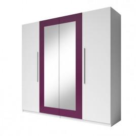 Шкаф 4D Vera белый/лиловый