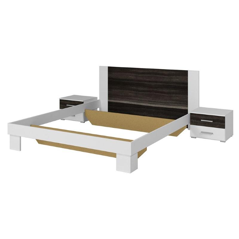 Кровать Vera белый/орех