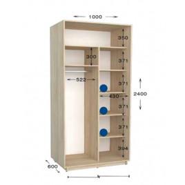 Шкаф купе Практик  100х60х240 см.