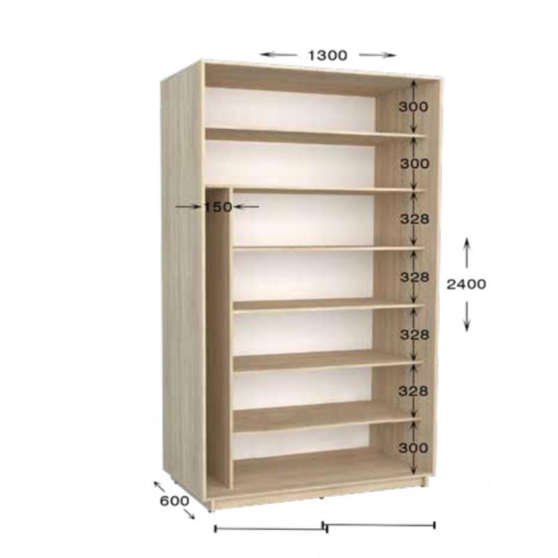 Шкаф купе Практик  130х60х240 см.
