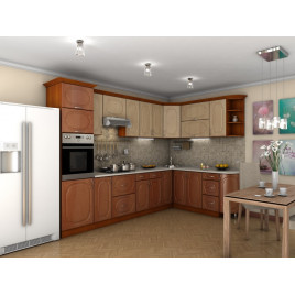 Кухня угловая  Эскиз  3