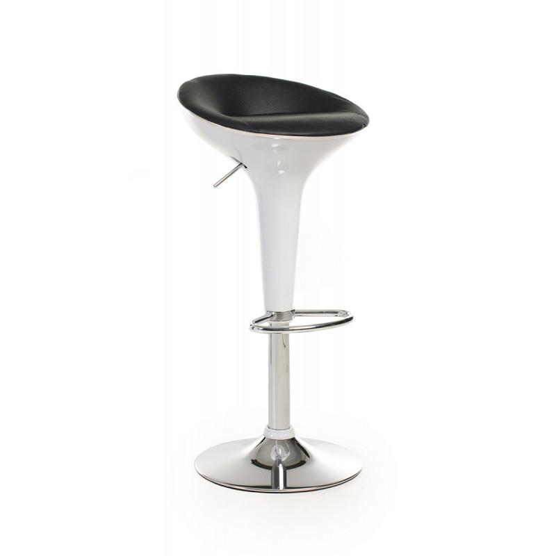 Барный стул B-01-2 черный+белый