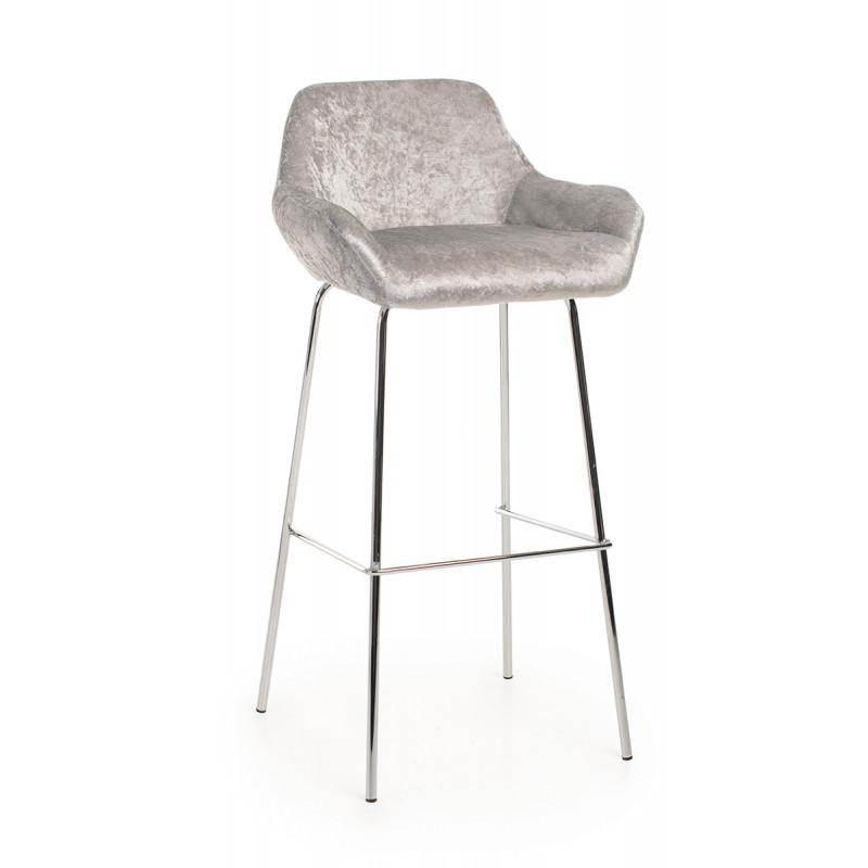 Барный стул B-12 серебрянный