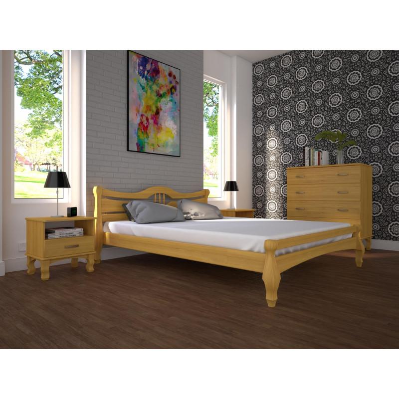 Деревянная кровать Корона-1