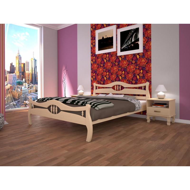 Деревянная кровать Корона-2