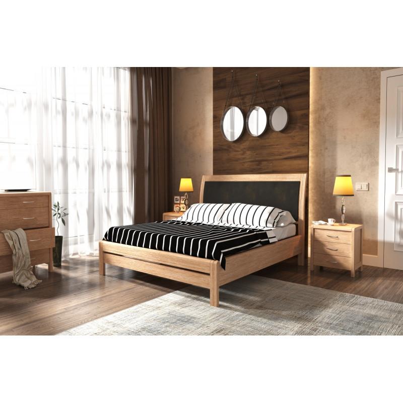 Деревянная кровать Бертис