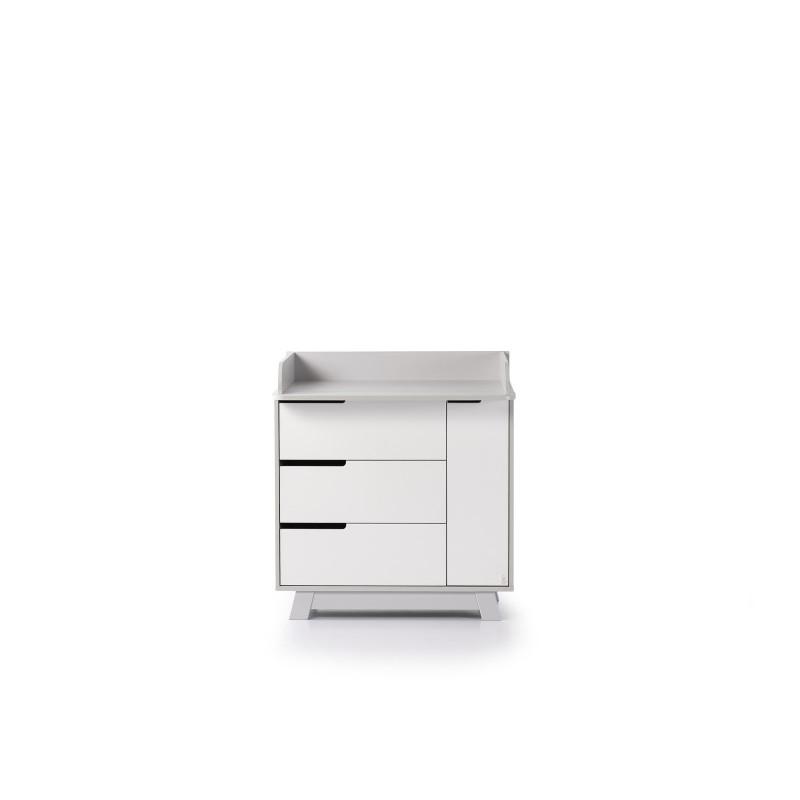 Комод пеленатор Манхеттен бело-серый