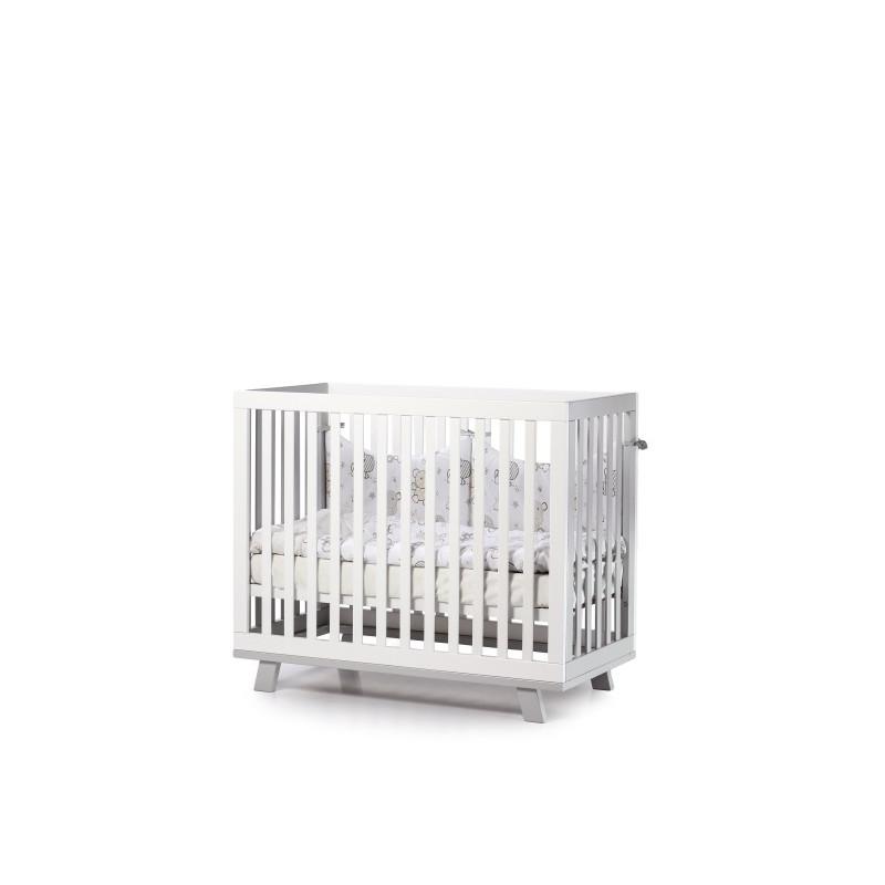 Кроватка детская ЛД1 Манхеттен бело-серый
