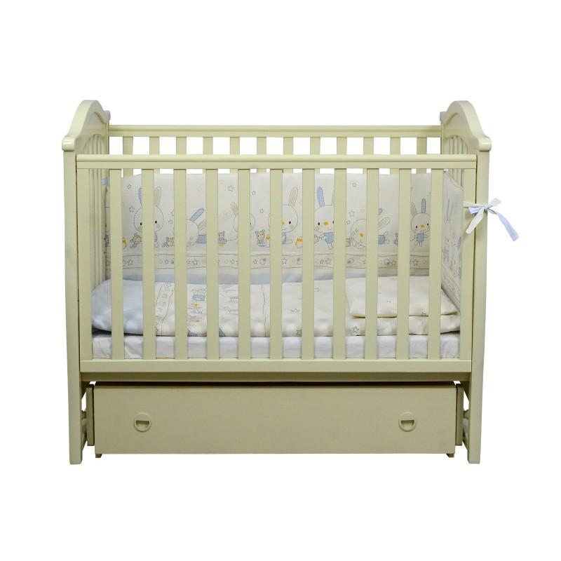 Кроватка детская ЛД3 слоновая кость