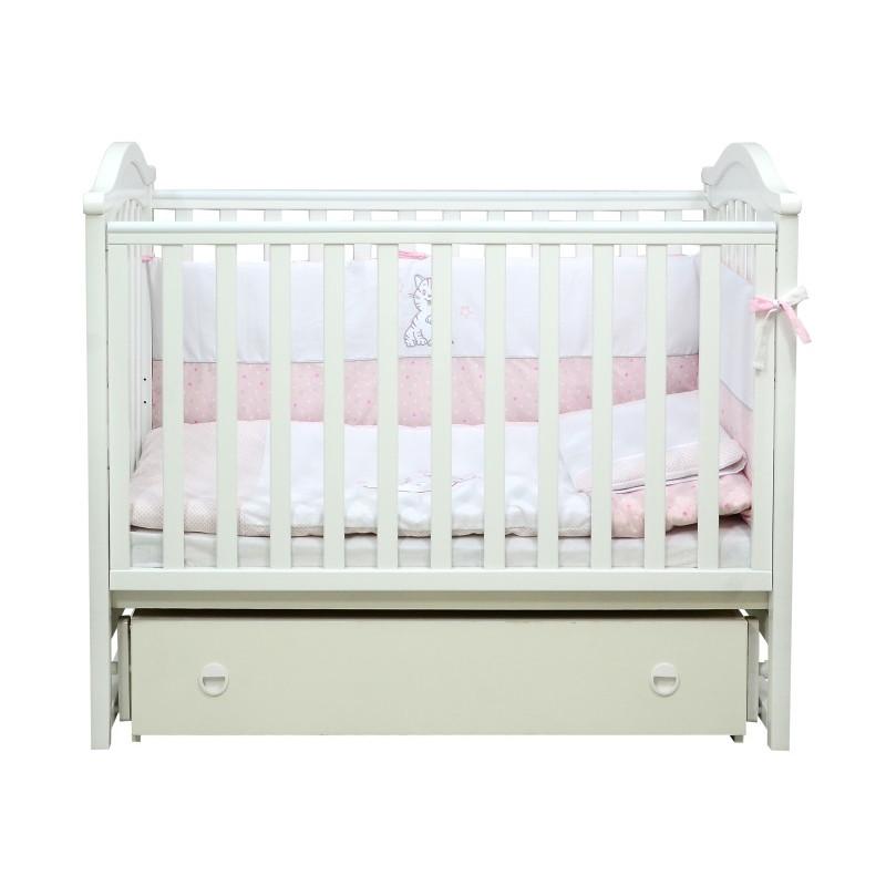 Кроватка детская ЛД3 белый