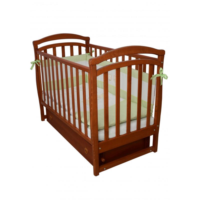 Кроватка детская ЛД6 ольха