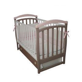 Кроватка детская ЛД6 капучино-розовый
