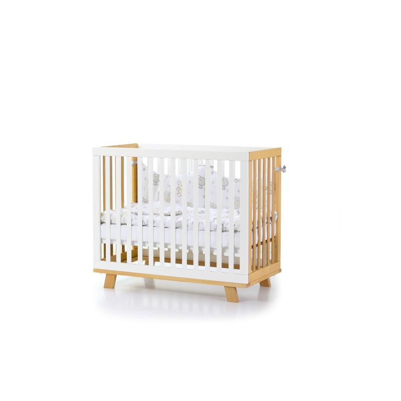 Кроватка детская ЛД1 Манхеттен бело-буковая