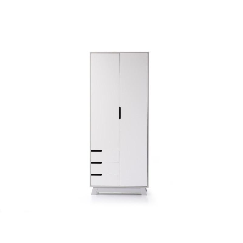 Шкаф Манхеттен лайт бело-серый