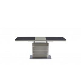 Стол МДФ + стеклокерамика TML-530 черный кварц+мокко