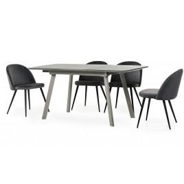 Стол МДФ+стекло ТМ-170 серый