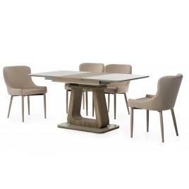 Стол МДФ+стекло TML-521-1 капучино