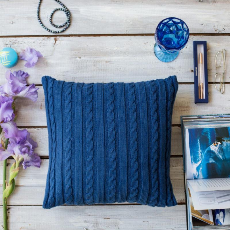 Подушка Классик 40х40 синяя